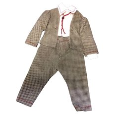 Tailored 3 piece suit for smart dressed boy doll - Red Tag Sale Item