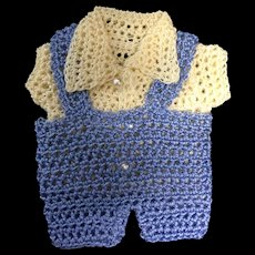 Cute knitted outfit for all bisque boy doll
