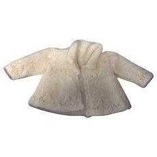 Beautiful cream mohair Jacket Fine knitting