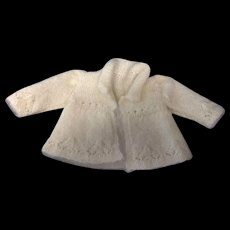 Beautiful cream mohair Jacket Fine knitting