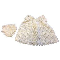 Sweet White Crocheted Dress and matching Underpants