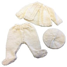 Knitted Doll outfit Jacket, Leggings & Beret