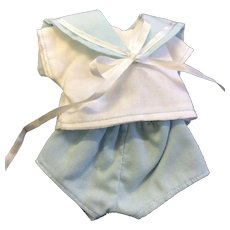 Cute Cotton Sailor Suit for small doll or all bisque