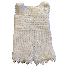 Beautiful cream knitted underwear for small or all bisque doll