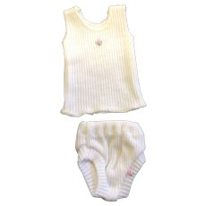 Little Cotton Singlet & Under Pants for small Doll - Red Tag Sale Item