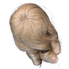 "Vintage Blonde Human Hair Doll Wig 4"" - 5"" New with Tags"