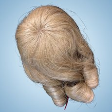 """Vintage Blonde Human Hair Doll Wig 4"""" - 5"""" New with Tags"""