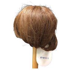 "Vintage Human Hair Doll Wig Auburn 13-14"""