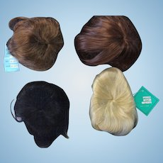 4 x Large Vintage Baby/Toddler Doll Wigs
