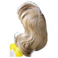 """Vintage Human Hair Wig 7""""-8"""" Blonde"""