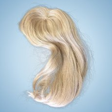 Vintage Blonde Human Hair Doll Wig 10""