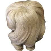 "Vintage Blonde Human Hair Doll Wig 10"" - 11"""