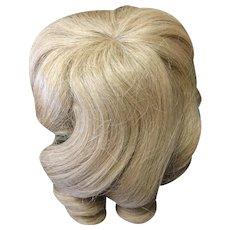 """Vintage Blonde Human Hair Doll Wig 10"""" - 11"""""""