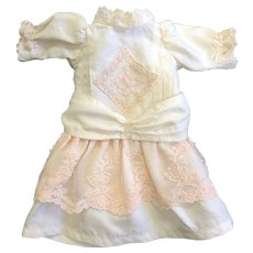 Small Dolls Dress trimmed with Vintage Lace - Red Tag Sale Item