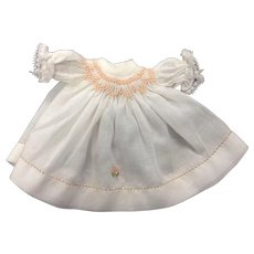 Little Smocked Dress for Small Doll or All Bisque