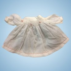 Sweet Smocked Dress for Small Doll or All Bisque