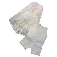 Matching Combination & Bustle Petticoat