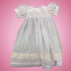 Beautiful Fine Muslin Dress with Embroidery