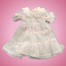 Pale Pink & White Dolls Dress