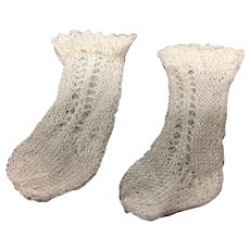 Incredibly  Fine Knitted Doll Socks