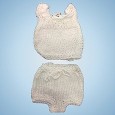 Knitted Underwear for Small Doll or All Bisque