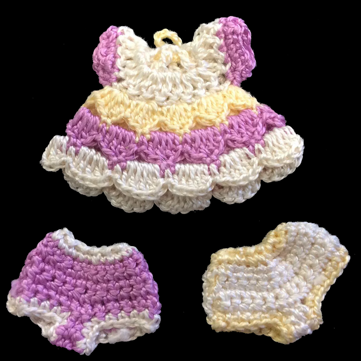 8 Free Crochet Barbie and Doll Clothes Patterns | 720x720