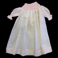 Beautiful Smocked Cotton Dolls Dress