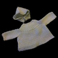 Sweet Knitted Dolls Jumper and Bonnet