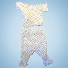 Blue Knitted Dolls Outfit