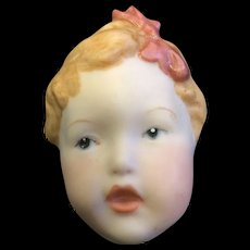 Hand Painted Doll Head Broach