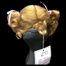 Vintage Honey Blonde Mohair Dolls Wig