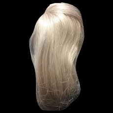 Long Blonde Human Hair Doll Wig