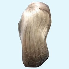 Long Blonde Human Hair Doll Wig