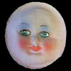 Vintage Cloth Doll Face