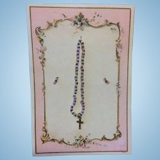 French Fashion Necklace & Earrings on Presentation Card
