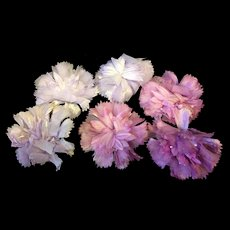 Beautiful Vintage Pink & Mauve Silk Flowers