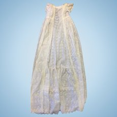Vintage Cotton & Lace Christening Gown