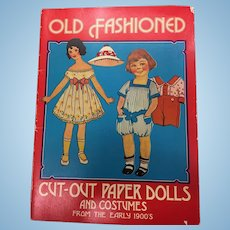 "Vintage Book ""Old Fashioned Cut-Out Paper Dolls & Costumes from the Early 1900's"""