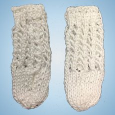 Sweet Pair of Small Knitted Doll Socks