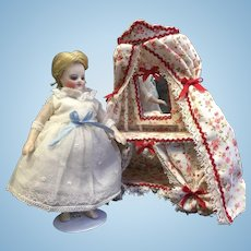 Beautiful Dress, Petticoat & Underpants for Mignonette or All Bisque Doll