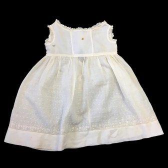 Antique Cream Childs Dress