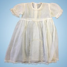 Beautiful Vintage Voile Childs Dress with Tatting