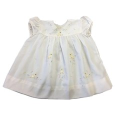 Cute Vintage Child's Embroidered Duck Dress
