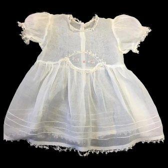 Fine Muslin Vintage Child's Dress