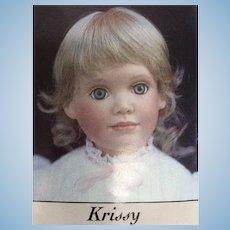 "Vintage Blonde Doll Wig 5-6"""