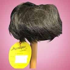 "Vintage Human Hair Toddler Doll Wig 12 -13"" Brown"