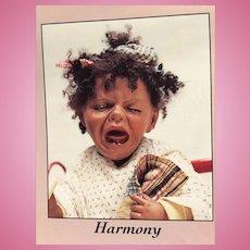 """Vintage Mohair Dark Brown Doll Wig 13-14"""""""