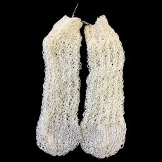Finely Knitted Cream Silk Doll Socks