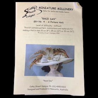 Doll's Millinery Hat Pattern & Kit
