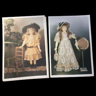 2 x Vintage Dolls Clothes Patterns